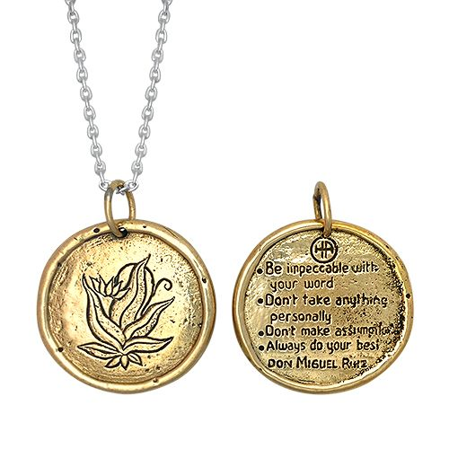 The Four Agreements Medallionep The Words Close To Your Heart