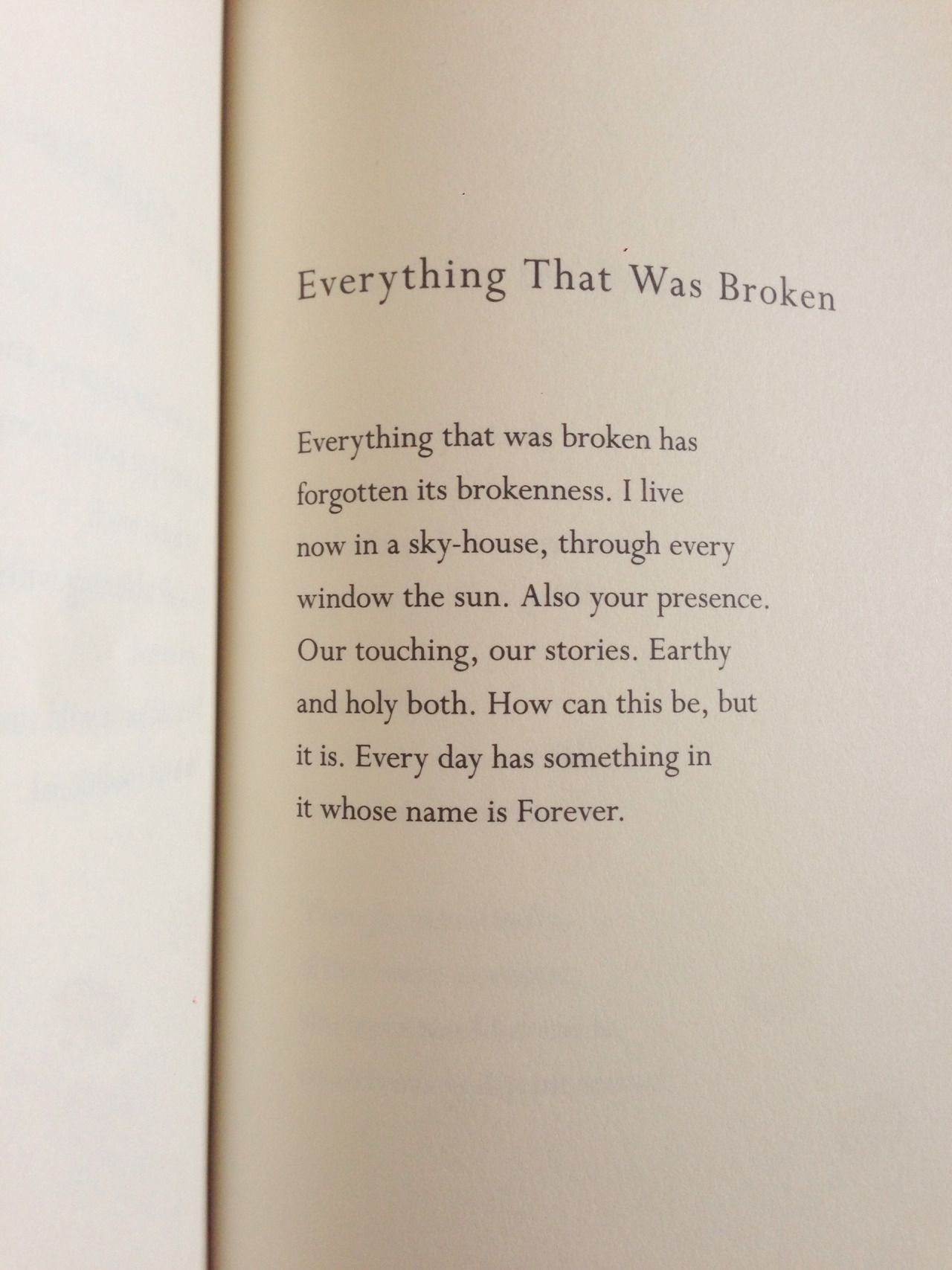 Poem by Mary Oliver faith worship vision