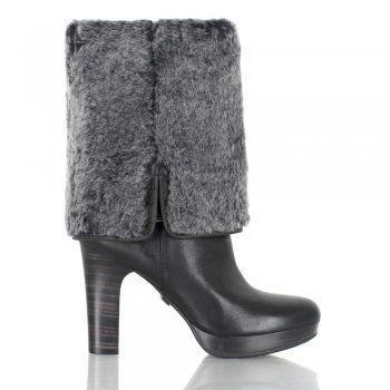 UGG Womens Savoie Black Leather Knee Boot