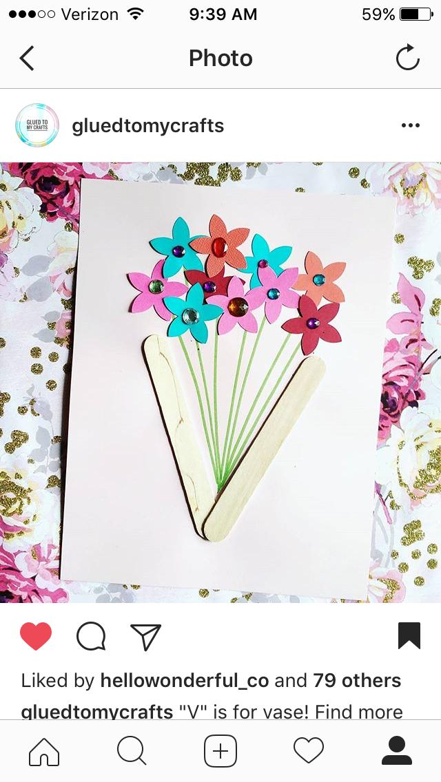 V Is For Vase Sapling Art Pinterest Craft Preschool