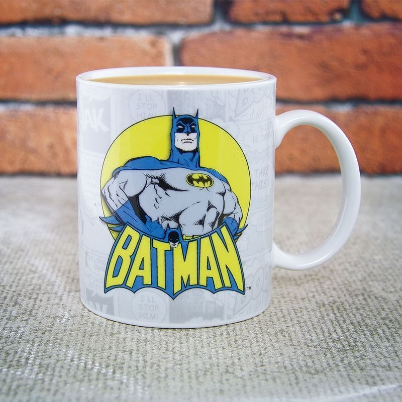 New Dc Comics Batman Black Punch Comic Strip Tea Coffee Mug Cup Gift Boxed Books Comics Magazines Telephoneheights Batman