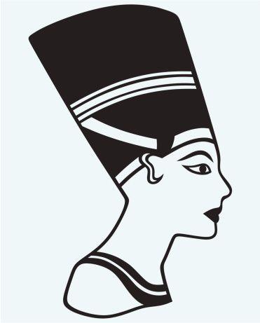Egyptian Pyramid Clipart Black And White Google Search Vector Art Illustration Silhouette Vector Nefertiti