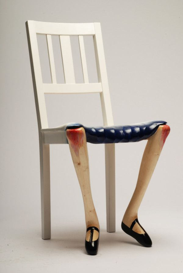 sculptural chairs inspired by art by benjamin nordsmark art