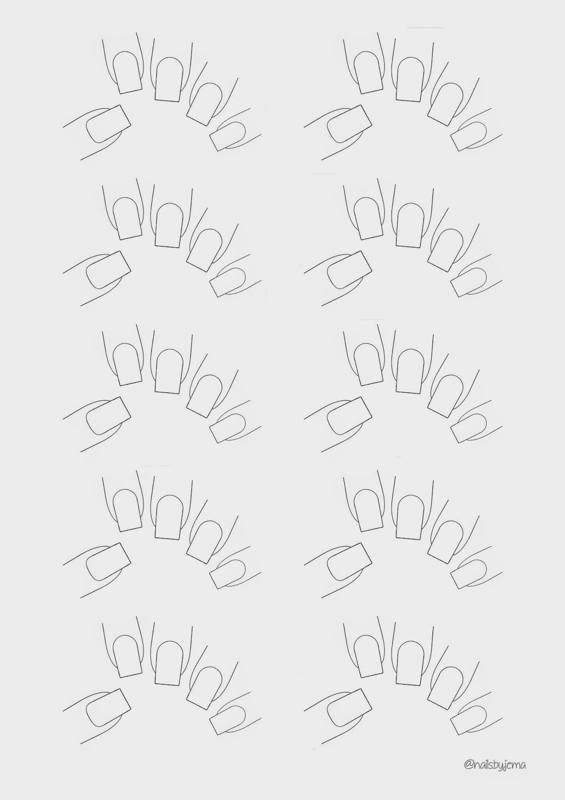 nails by jema blank nail template for your nail art nails in 2019. Black Bedroom Furniture Sets. Home Design Ideas