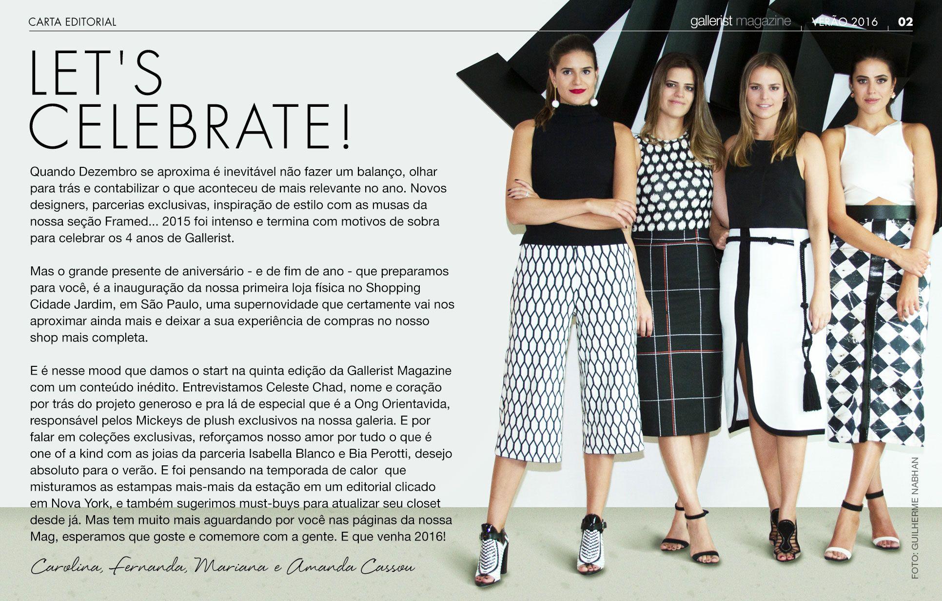 Carta editorial Gallerist Mag Issue #5