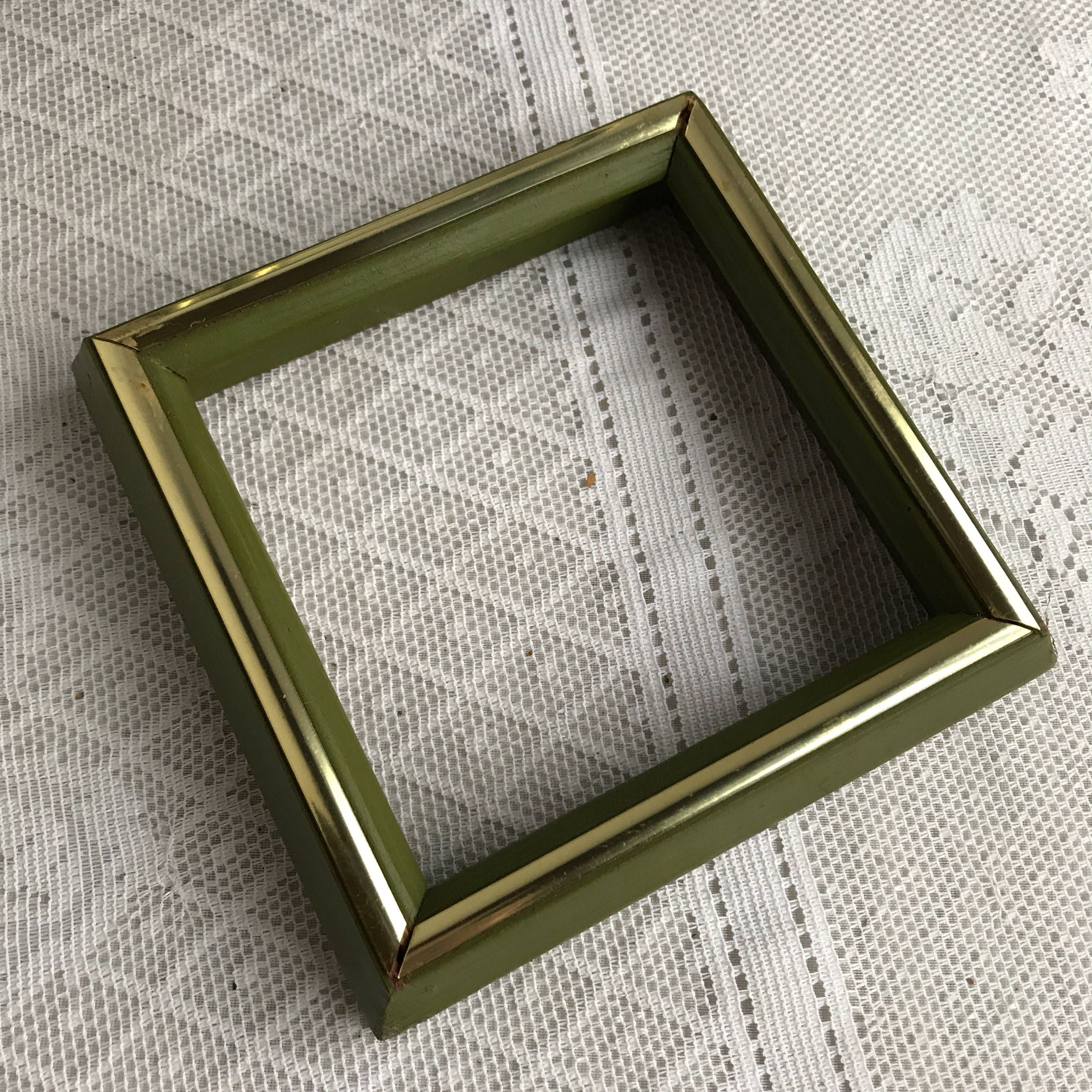Picture Frames Vintage Green Wood Frames Three Green Picture Frames Available 5 X 5 Inch Square Frames Green Picture Frames Picture Frames Green Pictures