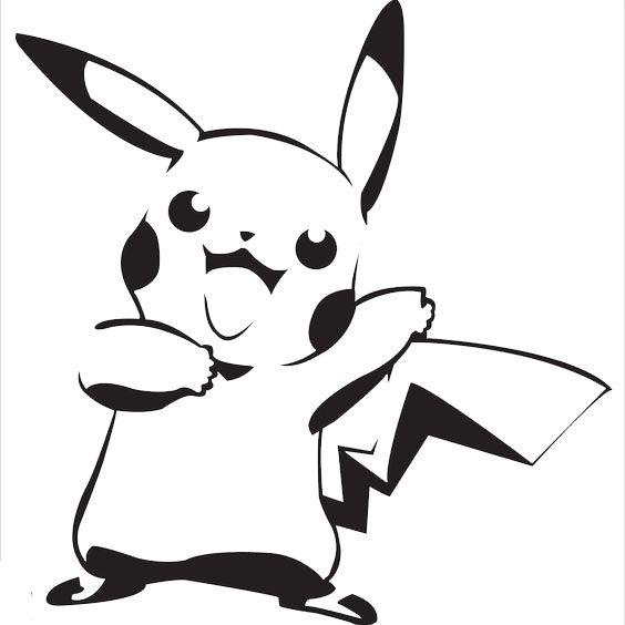 Exceptional Spray Paint Stencil Ideas Part - 6: Pikachu Stencil On We Heart It