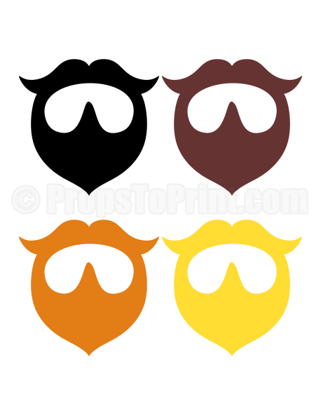 image relating to Beard Template Printable titled Pin via Muse Printables upon Photograph Booth Props at PropsToPrint