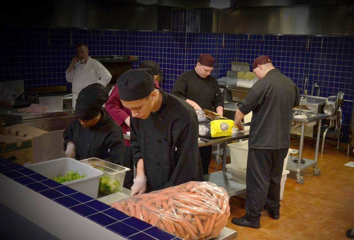 Nh job corps culinary students help our chefs prep