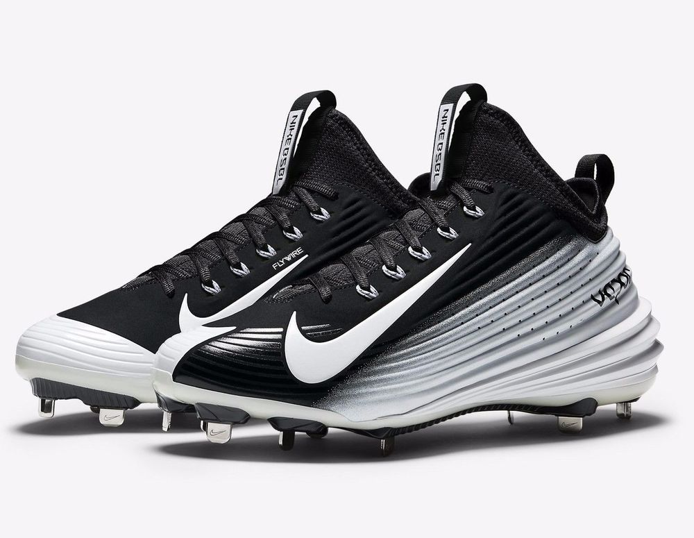 huge discount dde24 08ec8 ... ireland new nike lunar vapor mike trout metal baseball cleats black  white size 11 nike 69.99