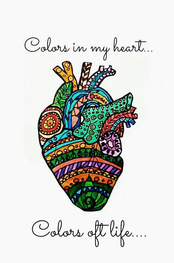 Colors in my heart | Corazon | Pinterest | Fondos, Varios y Amor