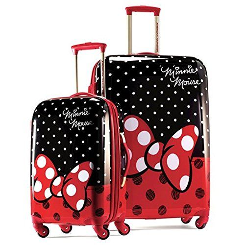 d5fd3188f3cb American Tourister Disney Minnie Mouse Red Bow2 Piece Set 21 & 28 ...