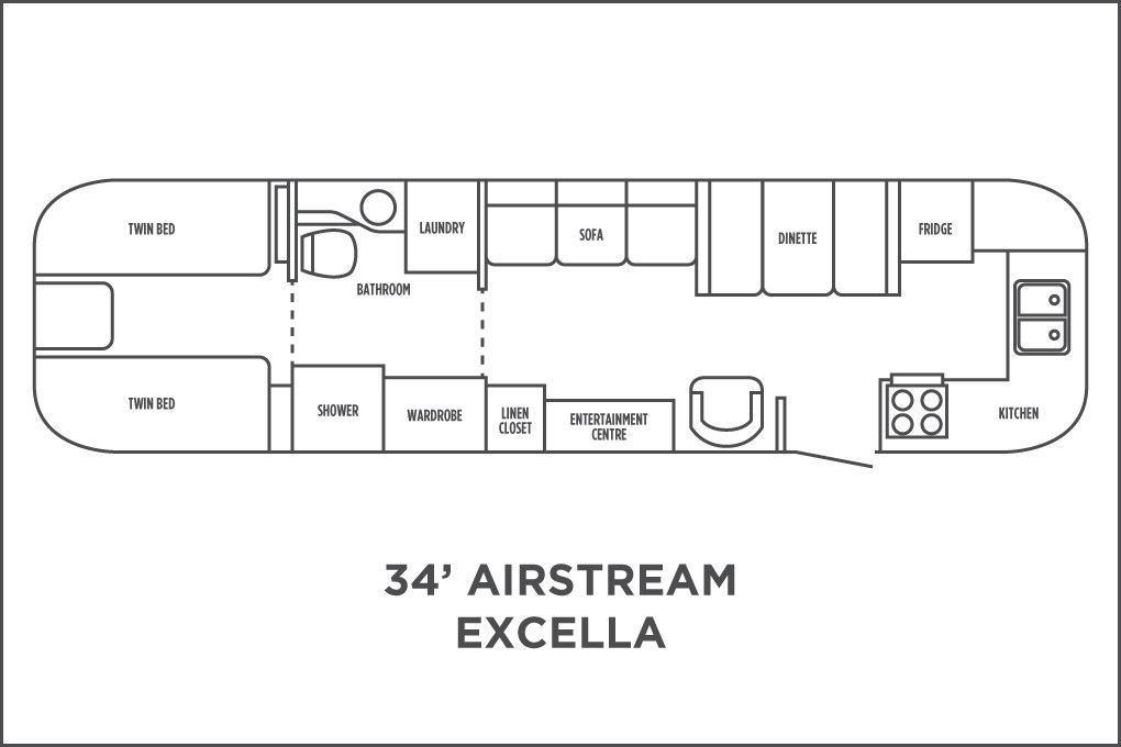 Such An Interesting Layout Would Move Shower Into Bathroom Build Toddler Bed In Wardrobe Wood Stove Where Cha Airstream Airstream Trailers Airstream Remodel