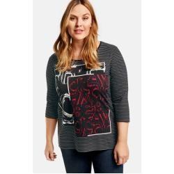 Photo of Samoon 3/4 Arm Shirt mit Front-Print Black gemustert Damen Gerry Weber