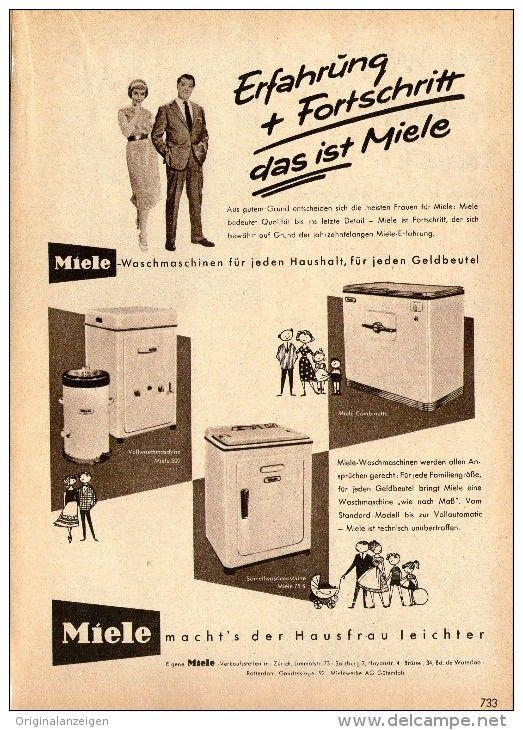 Original Werbung Anzeige 1958 Miele Ca 120 X 170 Mm Alte Werbung Werbung Werbeschilder