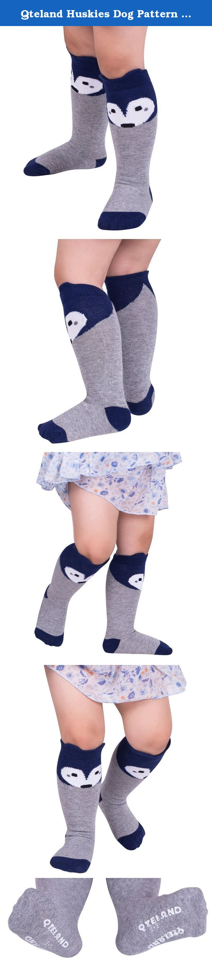 Qteland Huskies Dog Pattern Unisex-baby Knee High Socks Tube socks for Kids 2-pack (M(1-3 years), Mix). Qteland Cotton high knee socks for Babies are an adorable and fashion item dress up your little one. Look for all of our adorable high knee socks! Available in stripes, Geometry,fox,cat,Mickey Mouse,bear, rabbit and so on. A material composition for comfort these socks are made of 75% cotton, 20% polyester, and 5% spandex for a snug, comfortable fit. Three size for your choose Size S: 0-12...