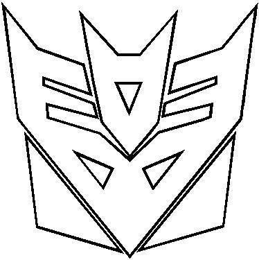 Transformers Decepticon Outline Decal Sticker Decepticon Logo