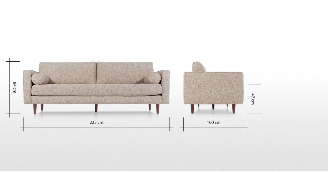 Scott Canape 3 Places Tisse Natte Ambre 3 Seater Sofa Sofa Home Decor