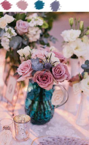 Les Couleurs Du Week End Roses Poudres Bleu Canard Et