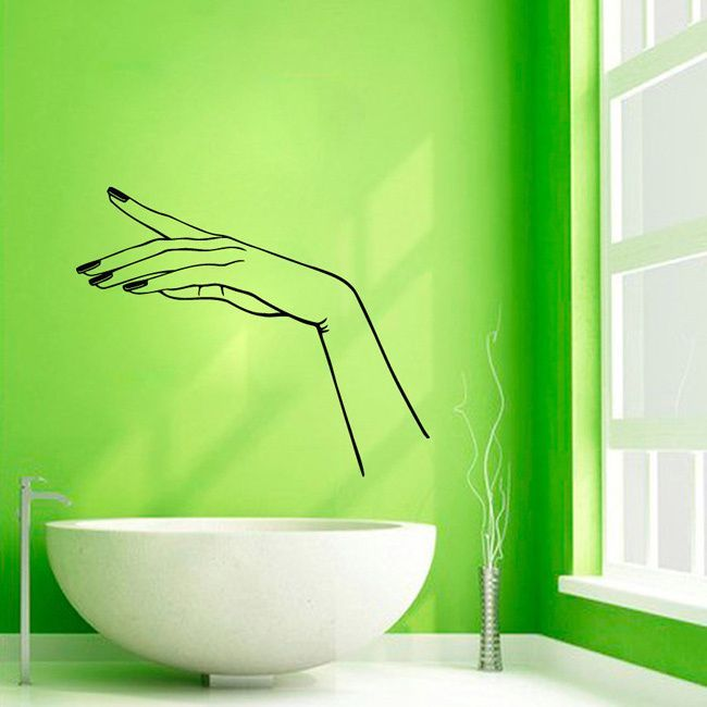 Manicure Nail Beauty Salon Decor Sticker Vinyl Wall Art http://miascollection.com