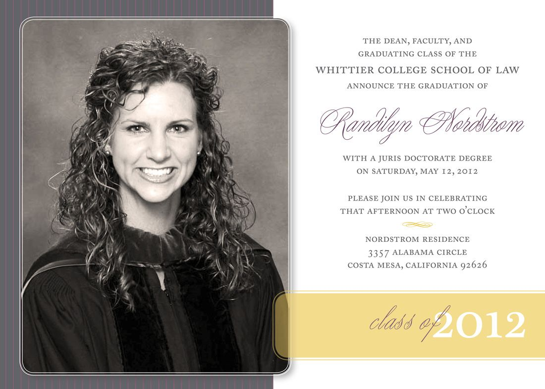 law school graduation announcement - Law School Graduation Invitations