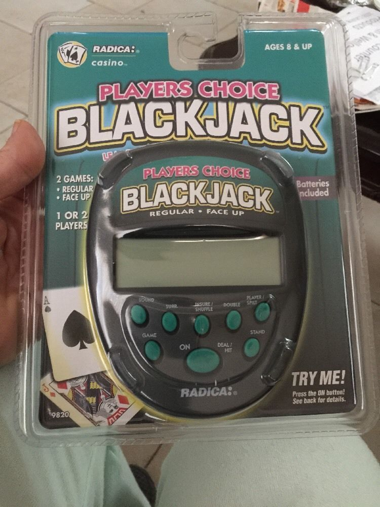 New in Package Radica Player's Choice Blackjack Handheld