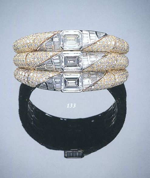 A FINE DIAMOND BANGLE,BY BULGARI