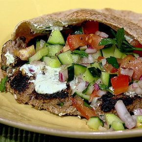 Turkish Burger Daphne Oz - try a variation of this - omit flour dredging, tomatoes