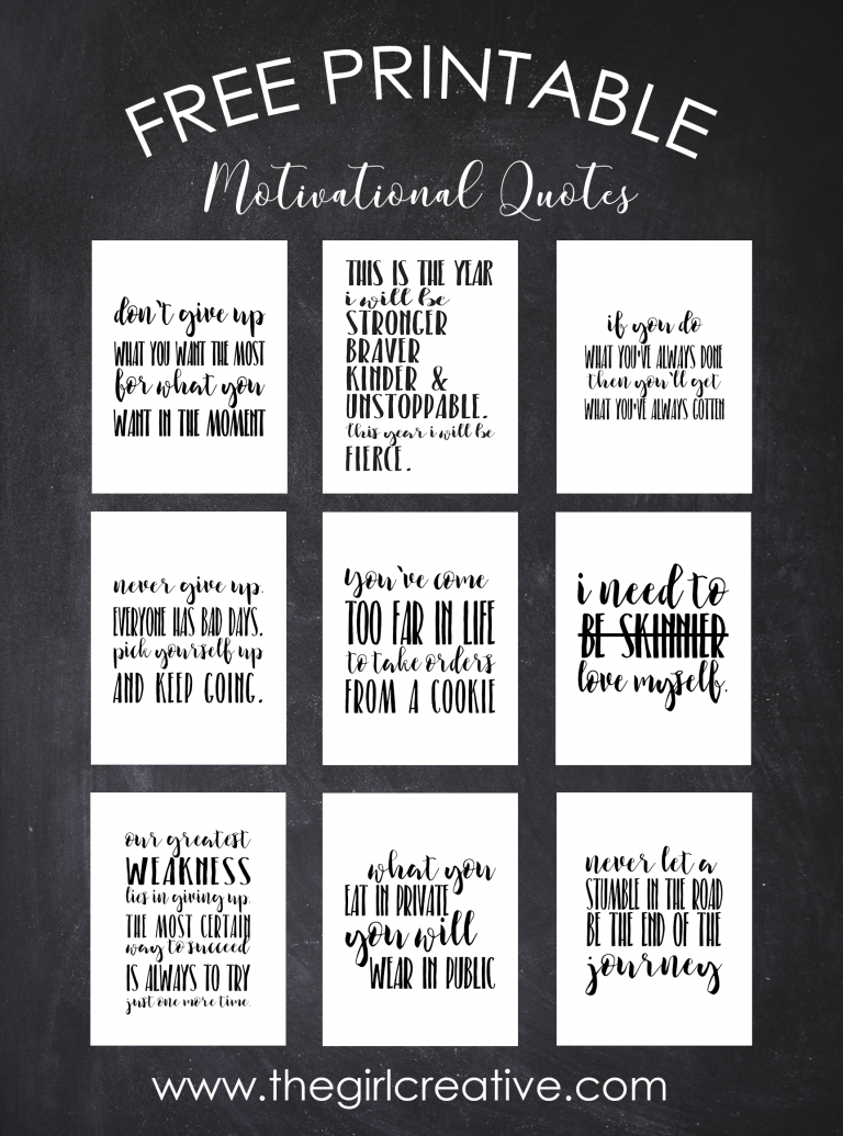 free printable motivational quotes | printables | pinterest