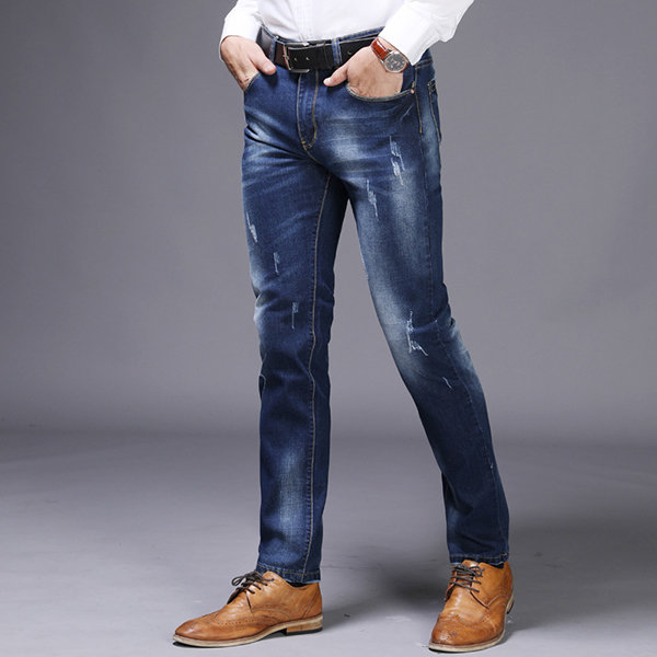 9abc544d7479 Casual Stylish Acid Wash Straight Legs Slim Ripped Jeans for Men ...
