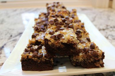 One Bite of Anything's German Chocolate Bars - made these tonight, they look and smell great!!
