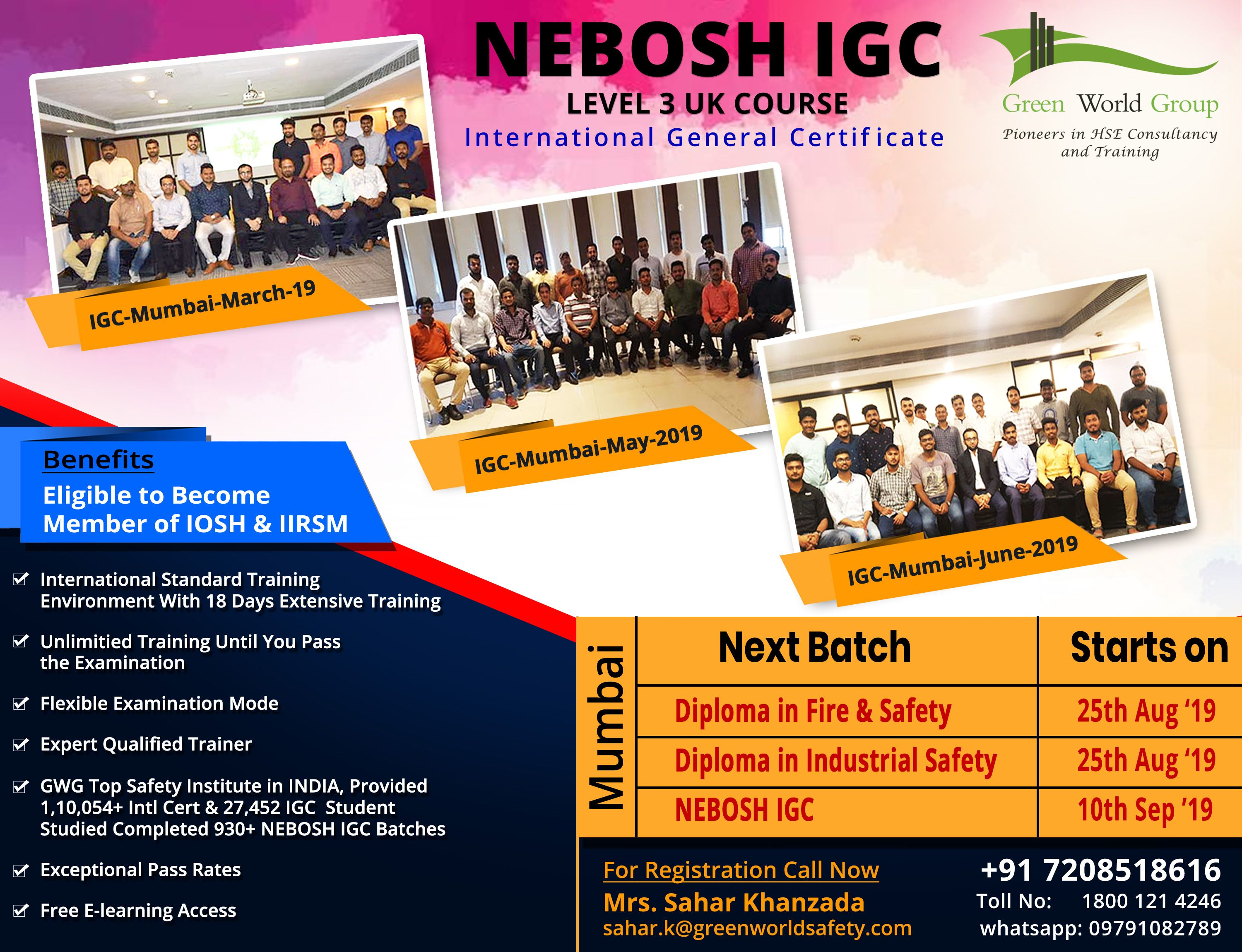 NEBOSH Course in Mumbai Safety courses, Workplace safety