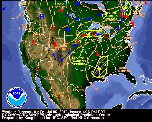 Weather Map - United States Weather Forecast Maps | News | Pinterest ...
