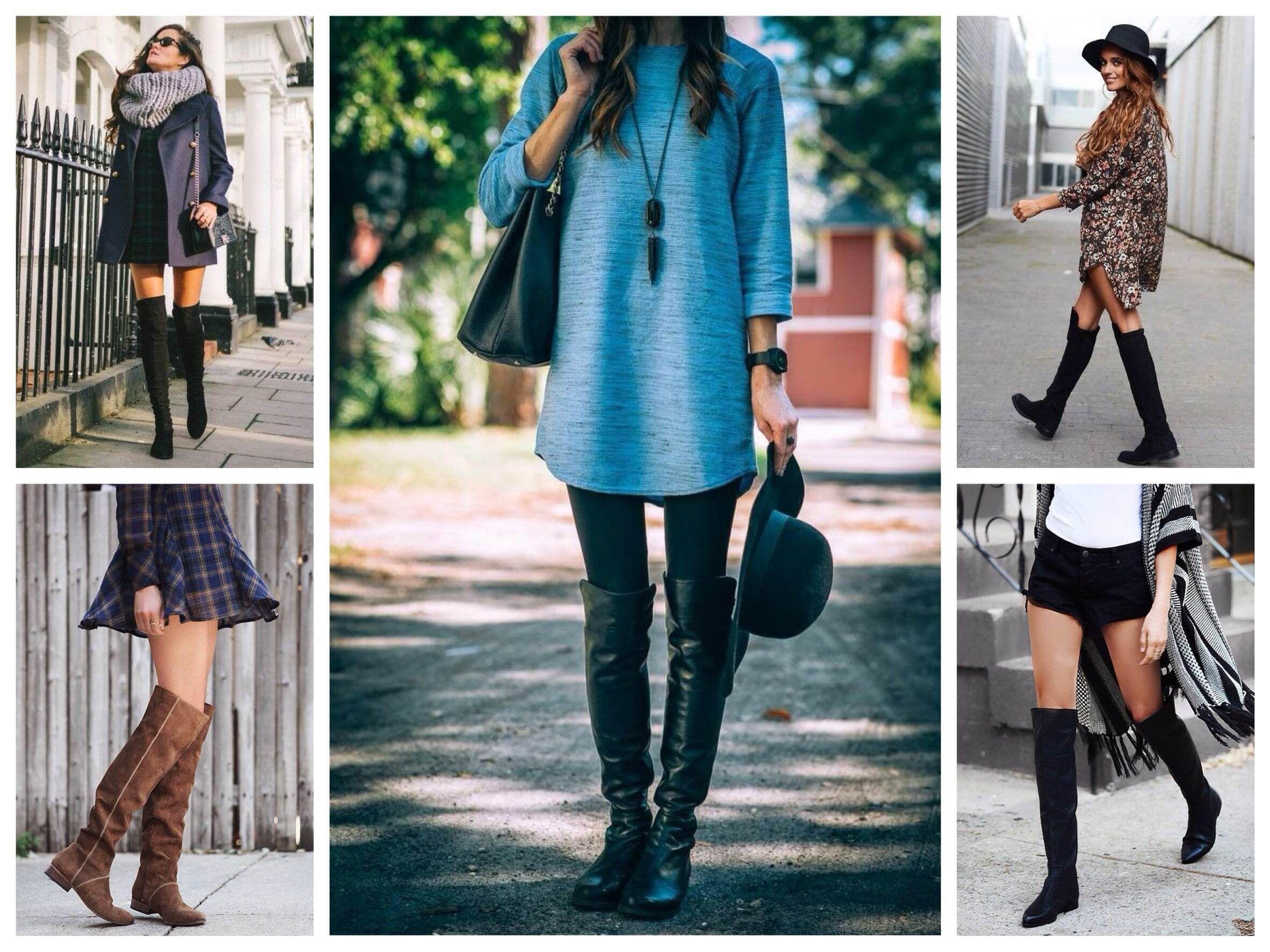 ботфорты без каблука модный лук фото всегда движутся