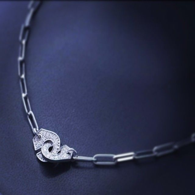 6783378eac300 dinh van's icon necklace : Menottes #dinhvan necklace white gold and ...