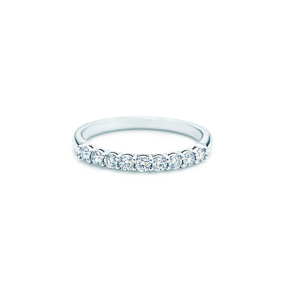 Tiffany Co Shared Setting Band Ring Band Rings Womens Wedding Bands Embrace Band