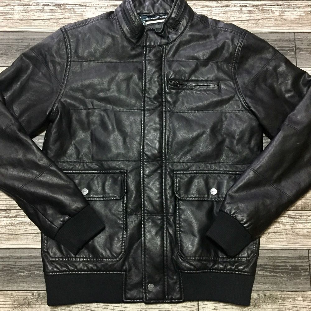 Rvca Nature X Industry Bomber Moto Jacket Mens S Black Faux Leather Fashion Clothing Shoes Accessories Menscloth Mens Jackets Jackets Faux Leather Outfits [ 1000 x 1000 Pixel ]