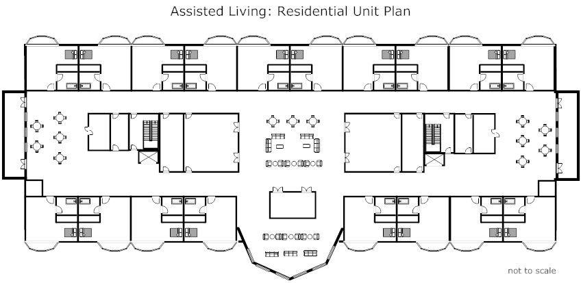 Medical facilities: floor plans of common facilities