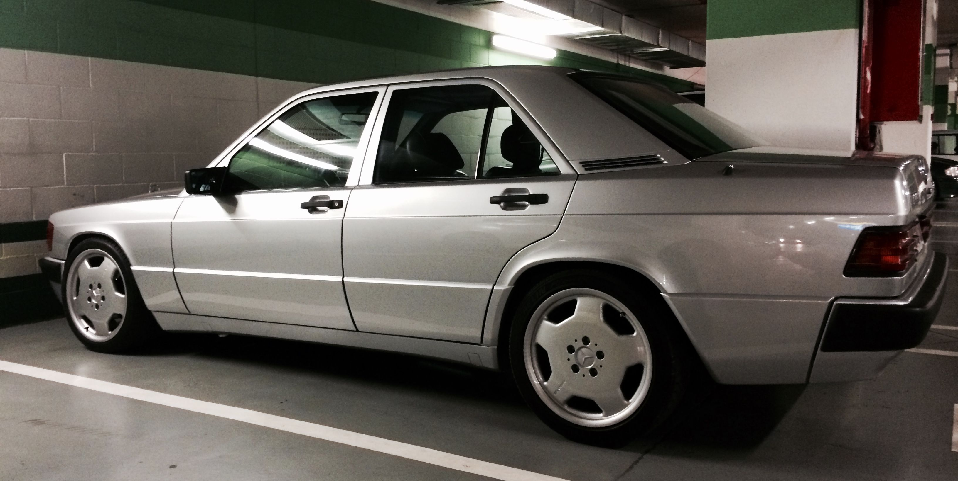 Mercedes-Benz 190E 2.3 AMG Alcarrian Concept: ral 722, Monoblock 17 on