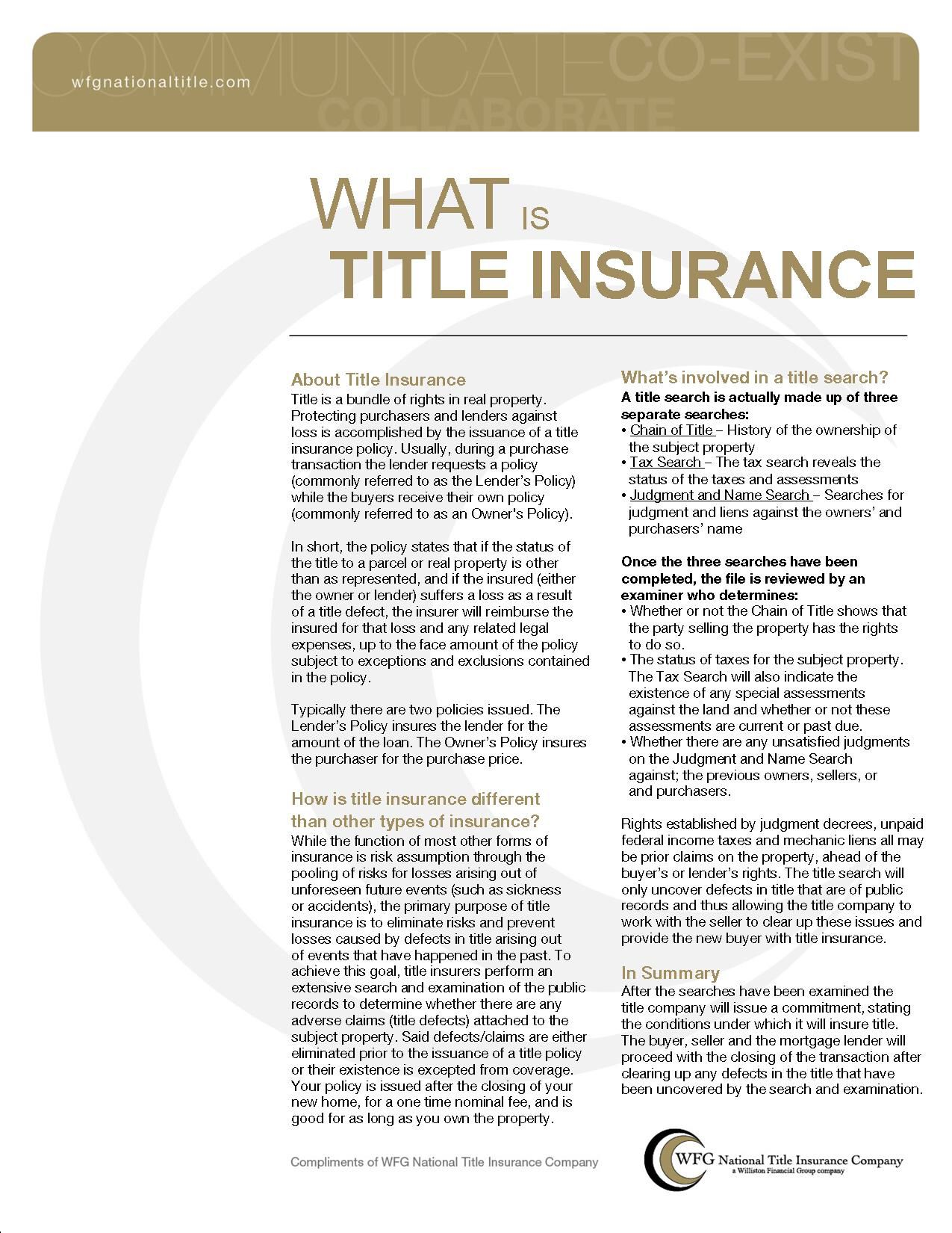 What Is Title Insurance With Images Title Insurance Best Mortgage Rates Today Business Insurance