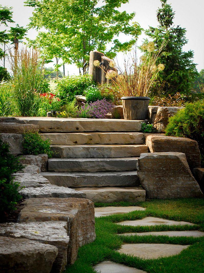 Best Beautiful Green Garden With Limestone Steps Limestone 400 x 300