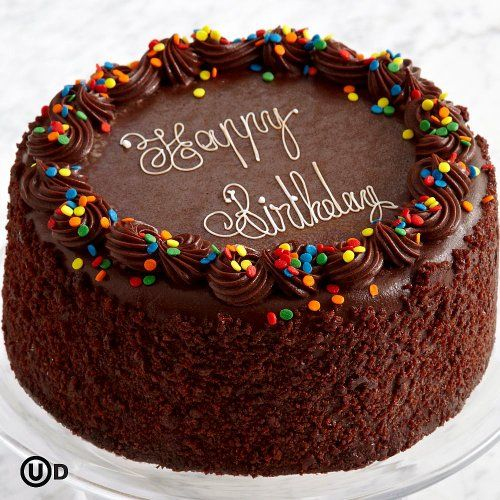 Three Layer Chocolate Happy Birthday Cake Happy Birthday Cakes Birthday Cakes For Men Birthday Cake For Men Easy