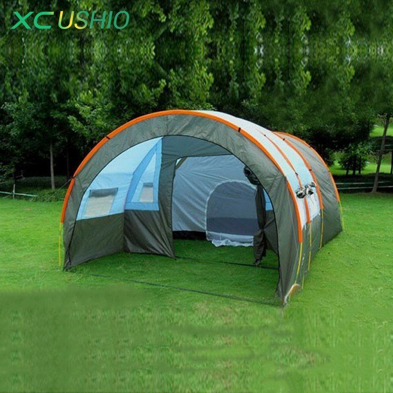 1x 480*310*210cm big doule layer tunnel tent 5-10 person outdoor : big 5 tents - memphite.com