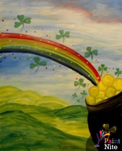 St Patrick S Day Pot O Gold Www Paintnite Com Paintnite Art Create St Patricks Day Wallpaper Diy Art Painting Painted Saint