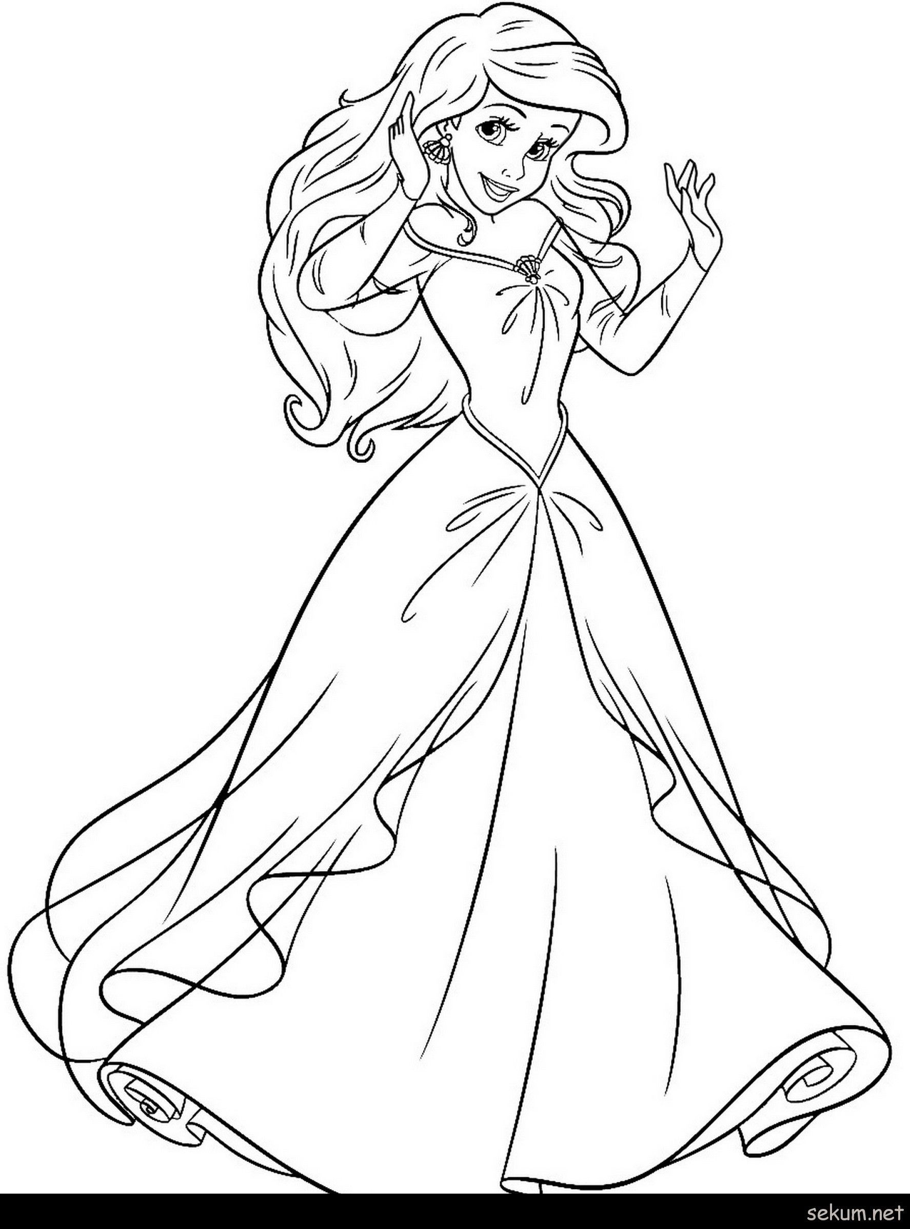 Princess Ariel Coloring Page Youngandtae Com Ariel Coloring Pages Disney Princess Coloring Pages Princess Coloring Pages