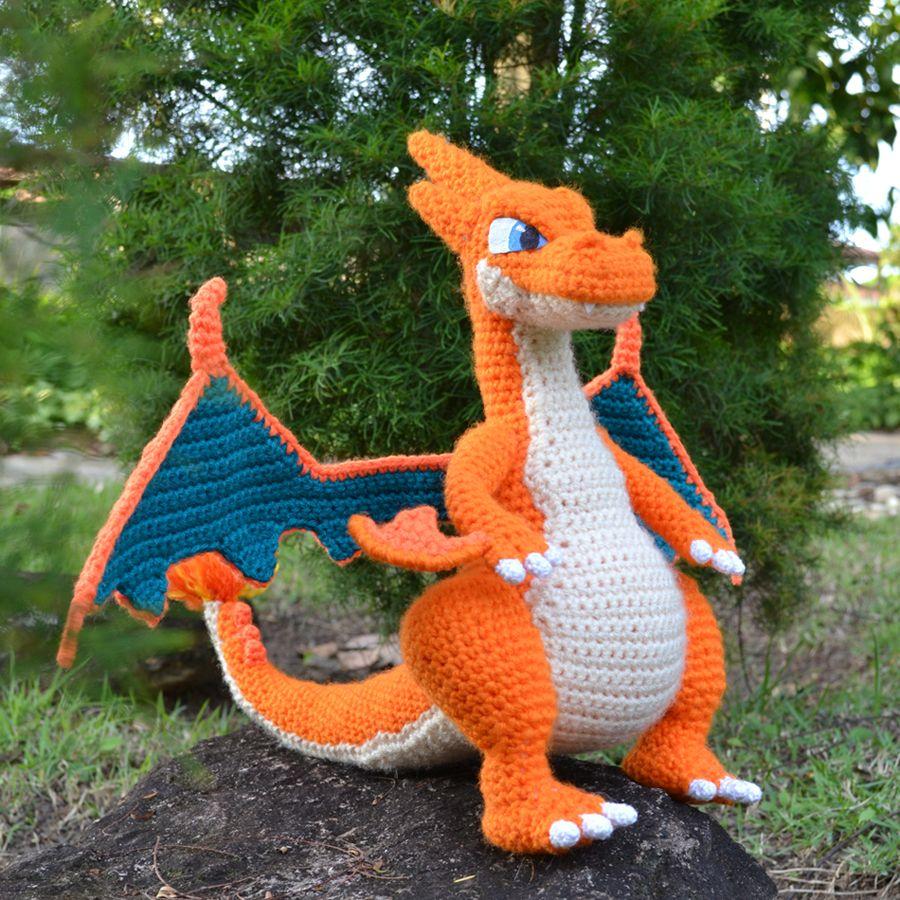 Mega Charizard Y – Free Dragon Amigurumi Pattern | Pinterest ...
