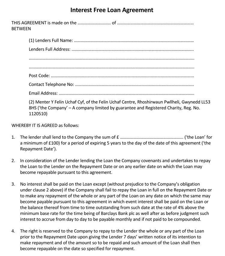 Free Loan Contract Template Inspirational 45 Loan Agreement