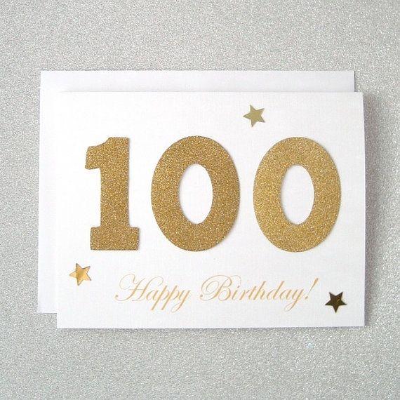 100th Birthday Card 100 Birthday Card 100th Greeting Card Etsy 100th Birthday Card Birthday Cards Old Birthday Cards