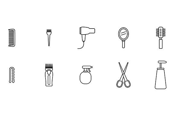 Hairdresser Icons by wavebreak on @creativemarket