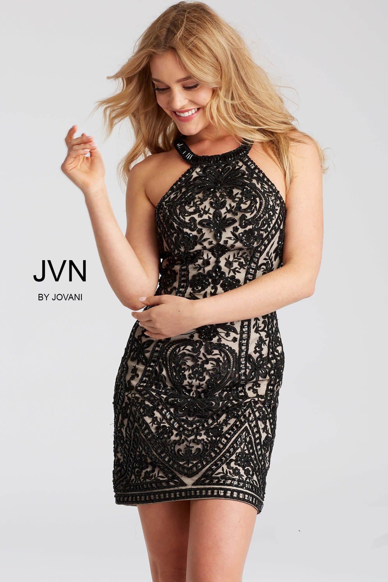 JVN by Jovani JVN53359 Captivating Lace Cocktail Dress